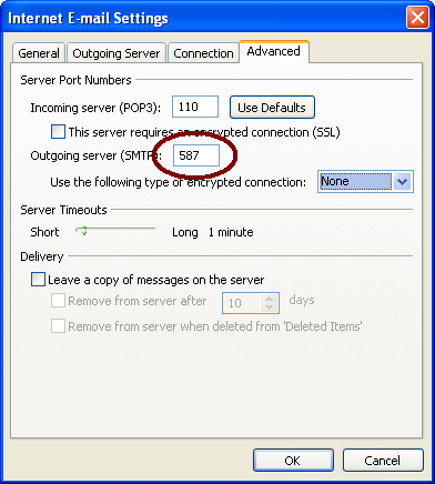 Advanced Internet E-mail Settings